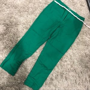 Cropped pants - green